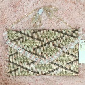 NEW woven handbag/clutch Urban Expressions